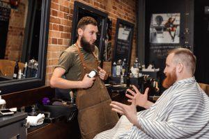 barber client consultation